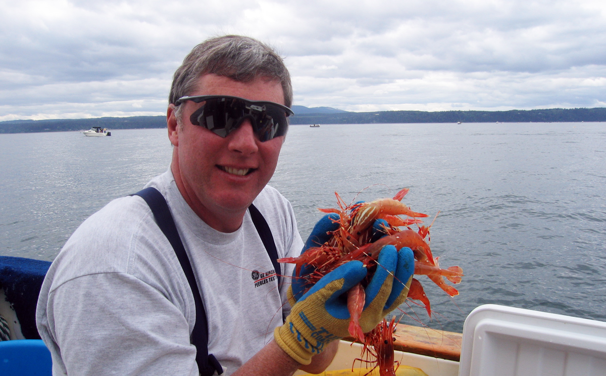 Wayne with Puget Sound Spot Shrimp