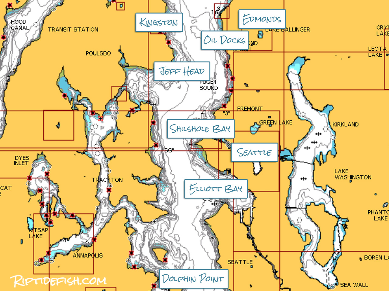 Puget Sound Chinook Salmon Fishing Hot Spots.