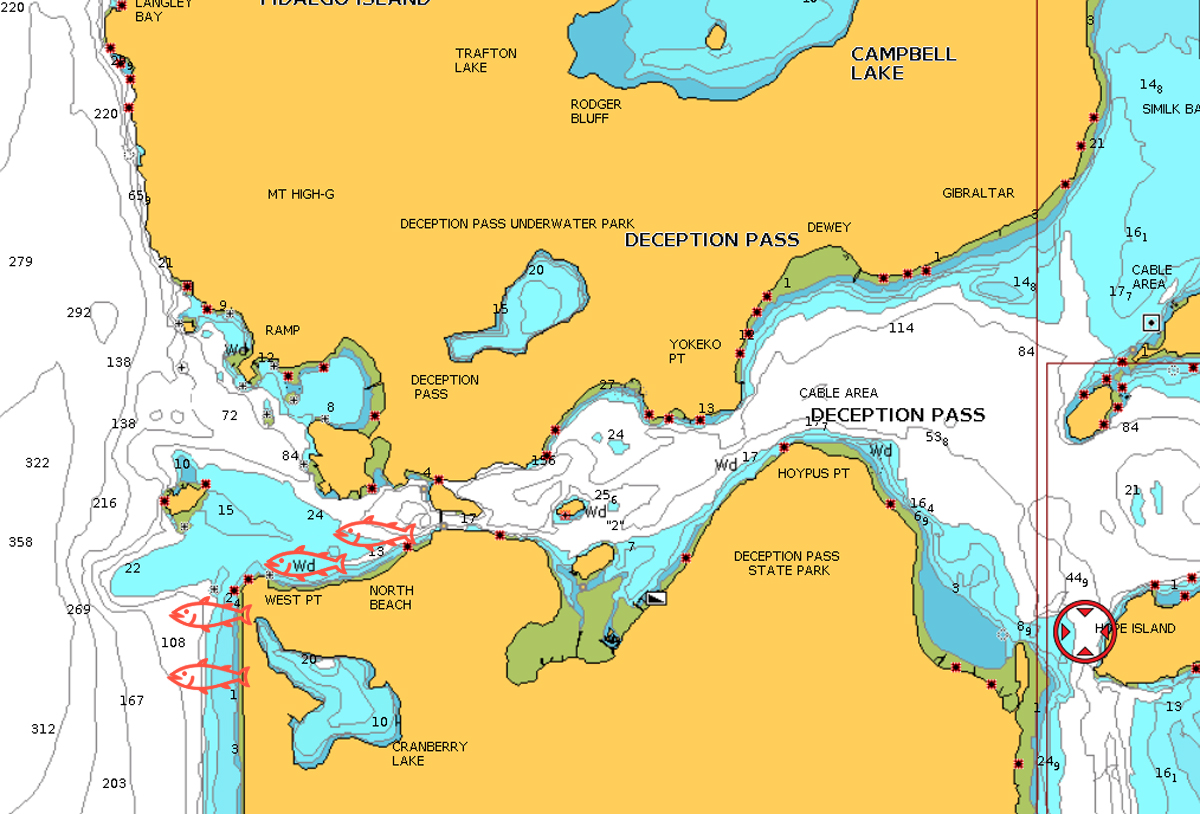 Deception Pass State Park Fishing Map