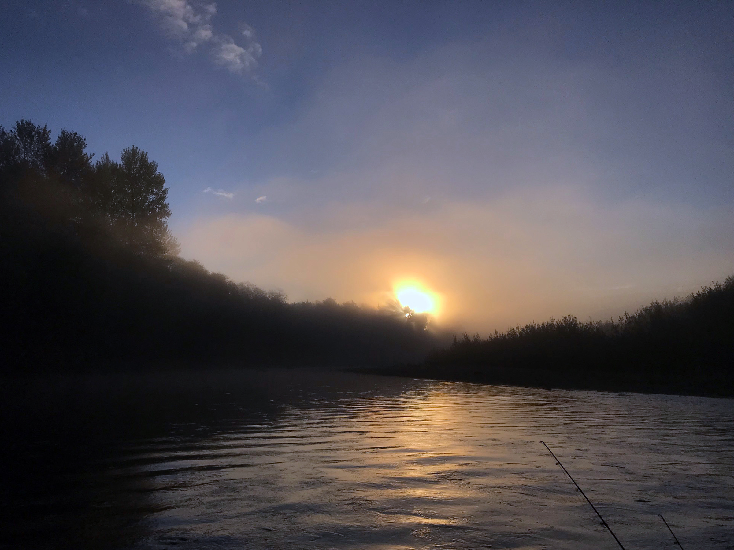 Sunrise over the Humptulips River.