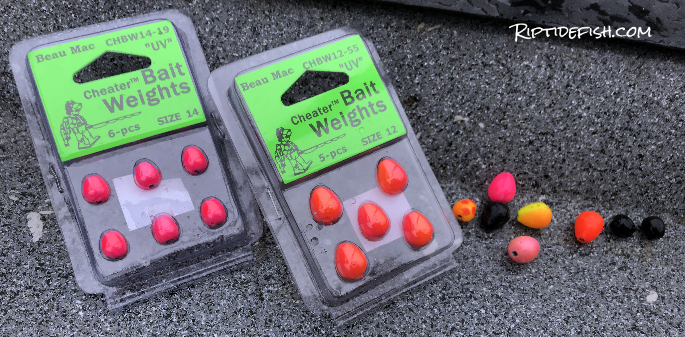 Beau Mac Bait Weights are a great addition when float fishing with bait, Pink Worms or yarn.