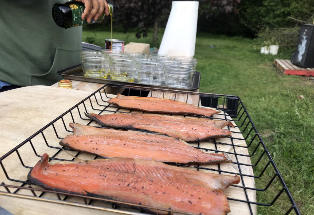 Canning Smoked Trout