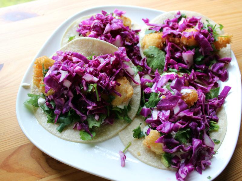 Spot Prawn Tacos