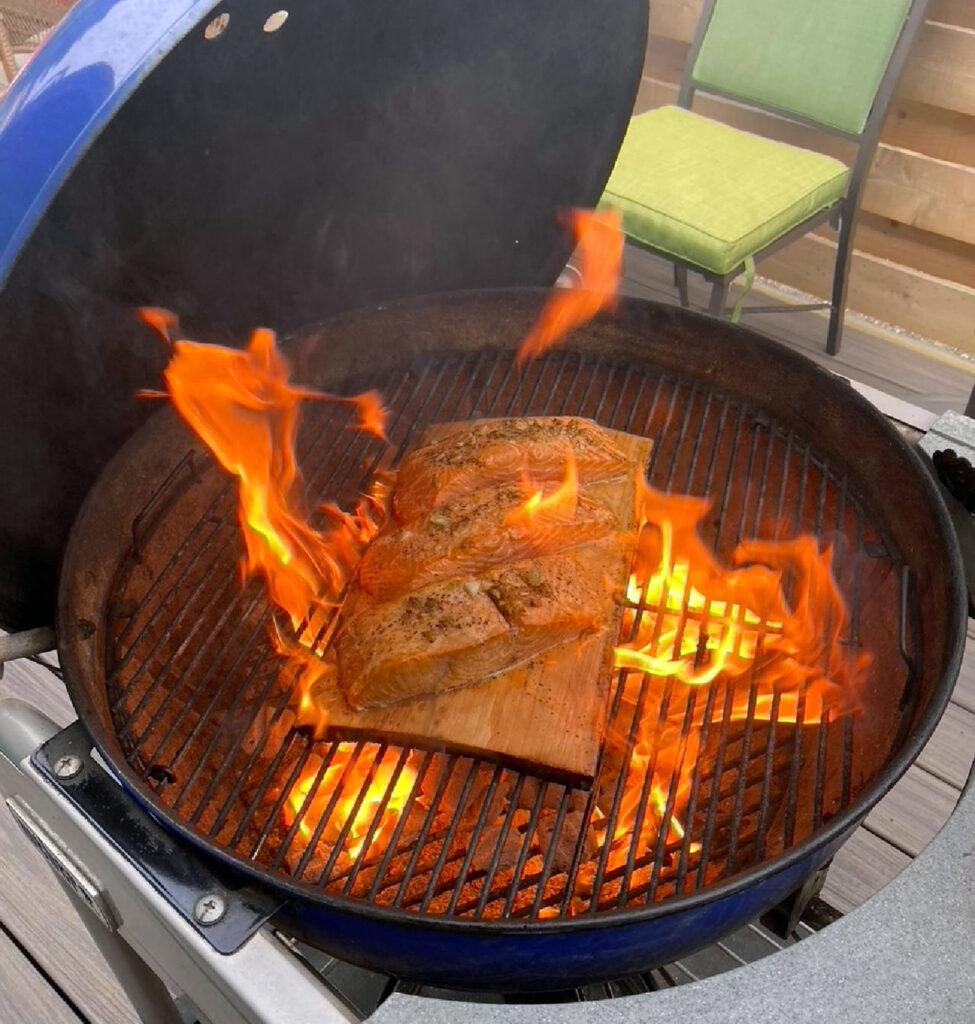 Charcoal Cedar Plank Salmon Recipe