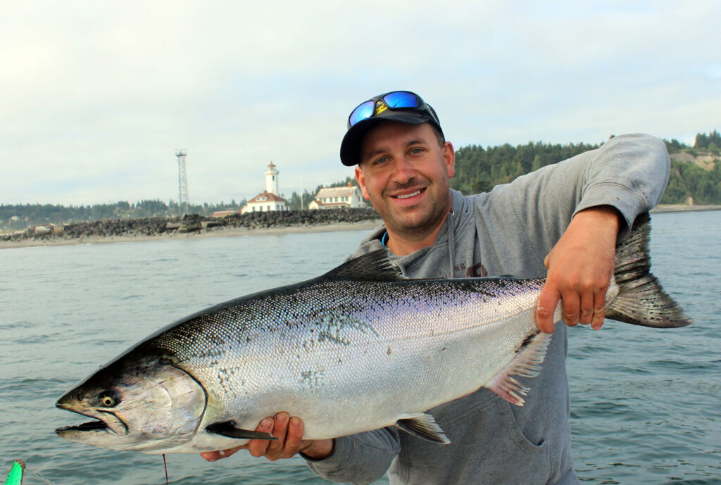 point wilson chinook salmon fishing