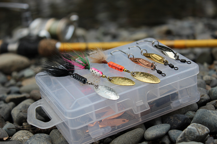 Snoqualmie River trout fishing tackle.
