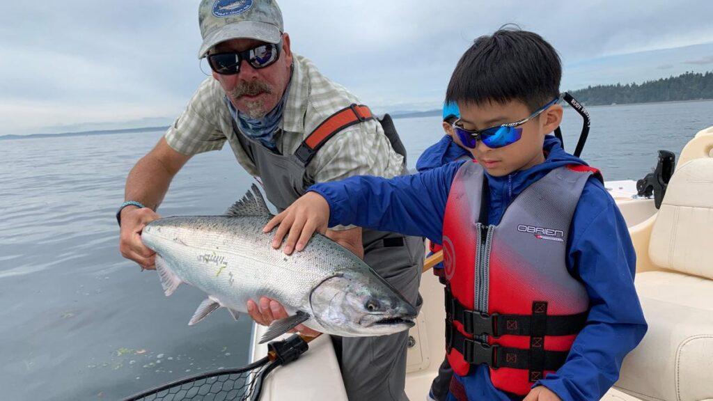 Spot Tail Salmon Guide Fishing Video
